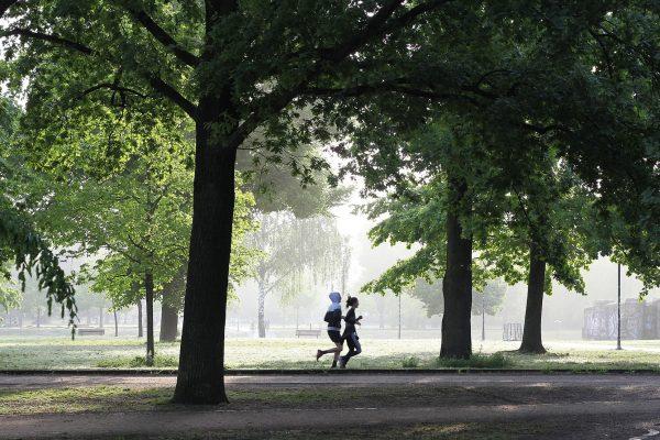 бягане в парка